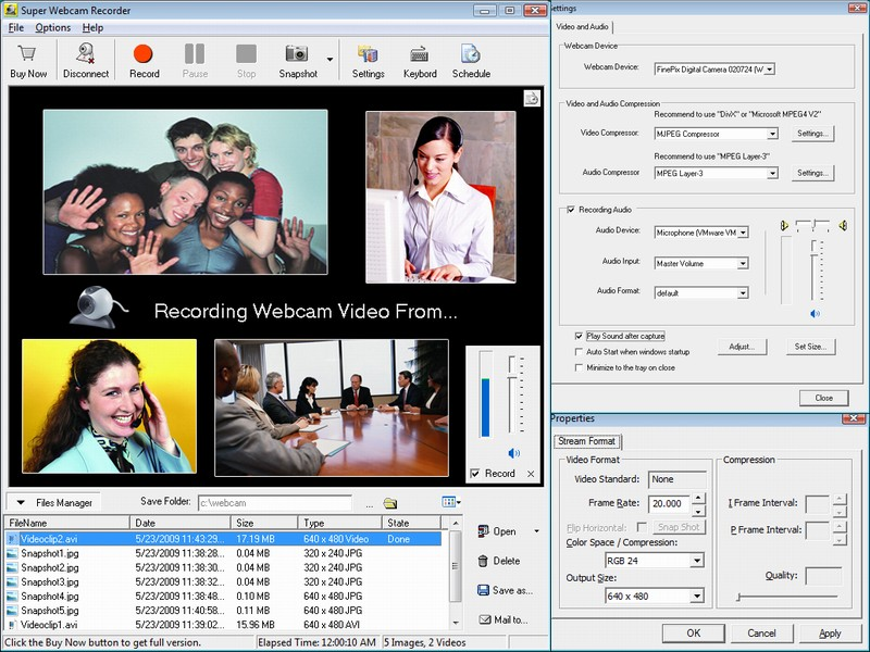 Click to view Super Webcam Recorder 4.2002 screenshot
